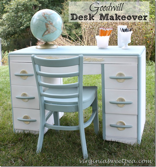 Goodwill Desk Makeover from Virginia Sweet Pea