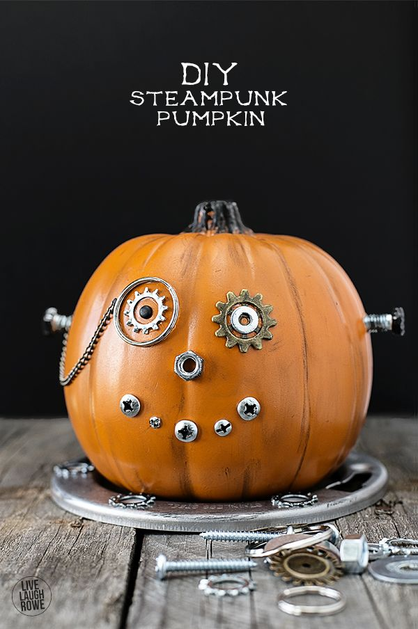 DIY Steampunk Pumpkin from Live Laugh Rowe