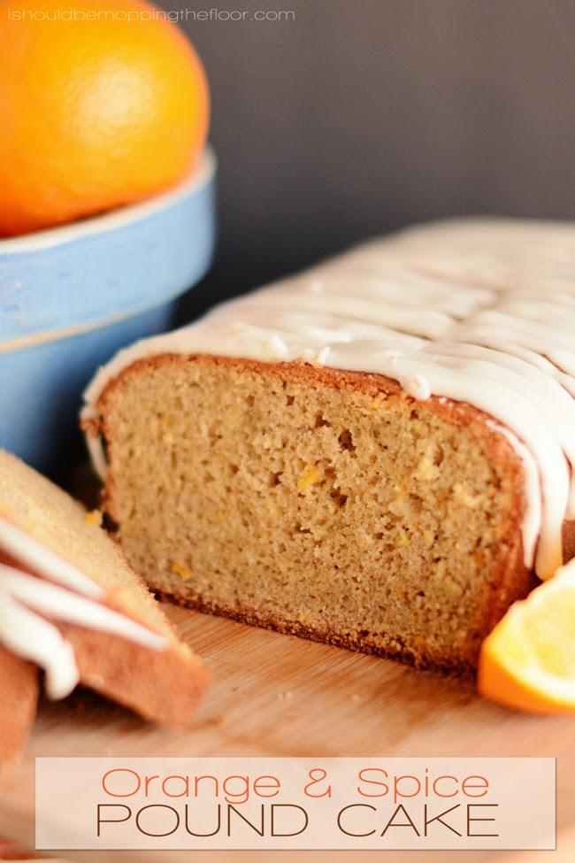 Orange and Spice Pound Cake from i should be mopping the floor