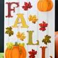 Put together an Easy Fall Sign to celebrate autumn's arrival. Quick & easy! at littlemisscelebration.com
