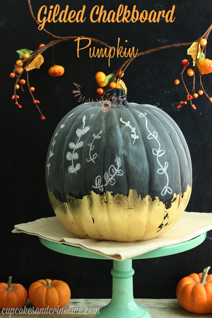 Gilded Chalkboard Pumpkin from Cupcakes and Crinoline