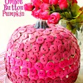 Think Pink! Make a Pink Ombre Button Pumpkin for you and friend this October. At littlemisscelebration.com