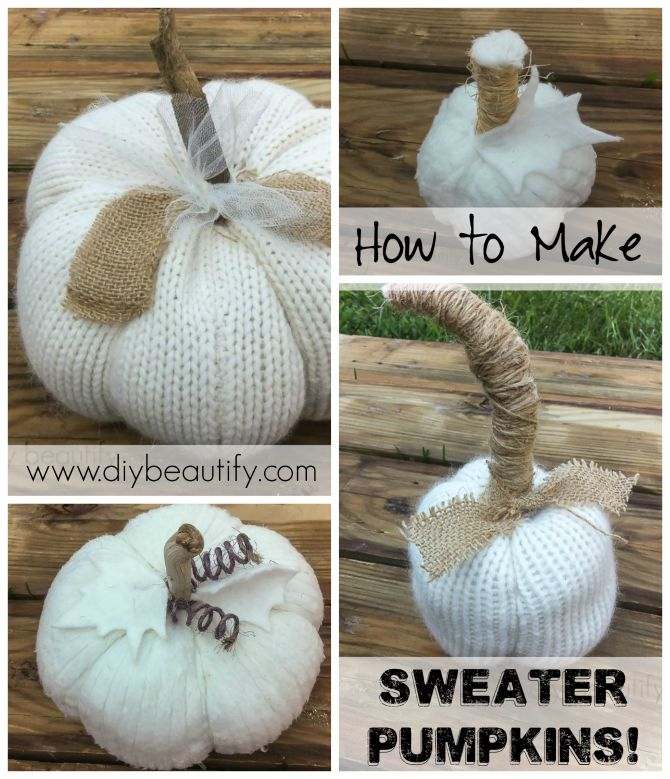 DIY Sweater Pumpkins from DIY Beautify