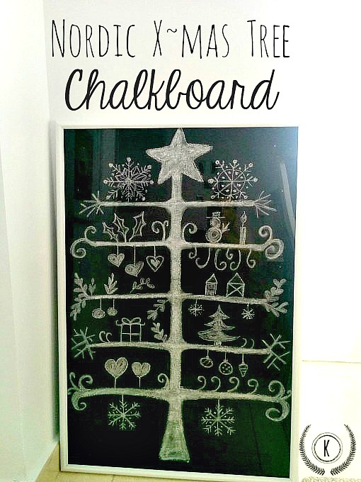 Nordic Christmas Tree Chalkboard from Kreativ K