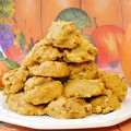 Light, airy, with a cake-like texture & pecan crunch, Pumpkin Crunch Cookies are so easy to make and not too sweet! They freeze perfectly, too! Recipe at littlemisscelebration.com