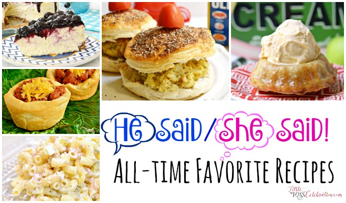 He said/she said! We pick our all-time favorite recipes to close 2015! At littlemisscelebration.com