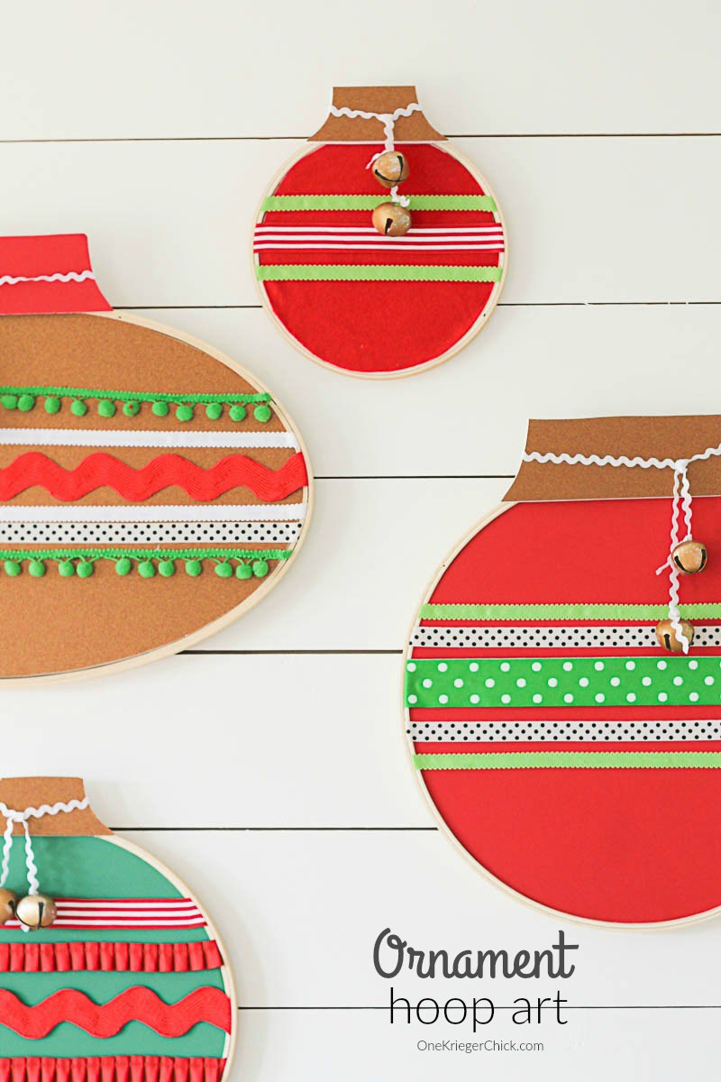 Ornament Hoop Art from One Krieger Chick