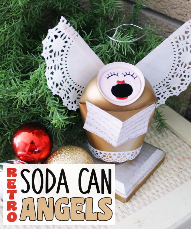 Retro Christmas Soda Can Angels from Our Peaceful Planet