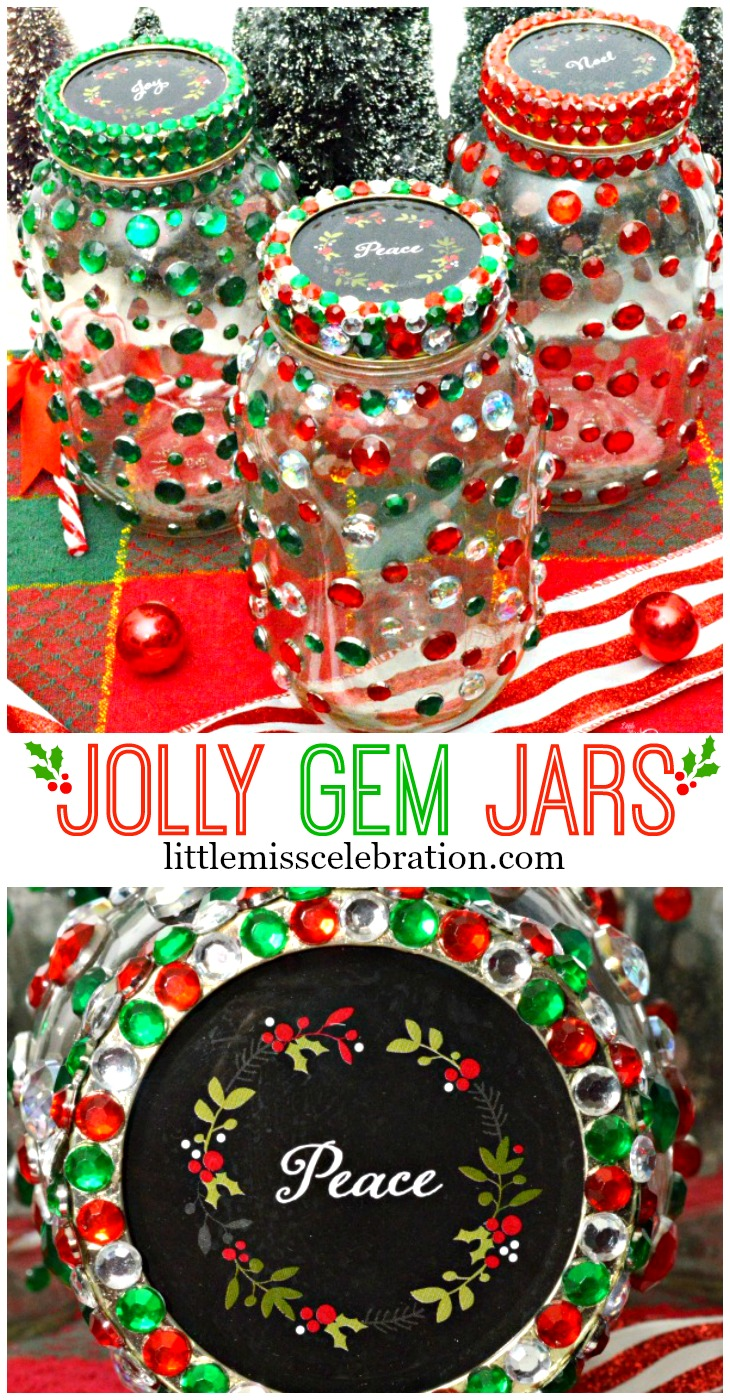 The fabulous holiday treats you make with love in your kitchen deserve special packaging – Jolly Gem Jars! Give two gifts in one! at littlemisscelebration.com