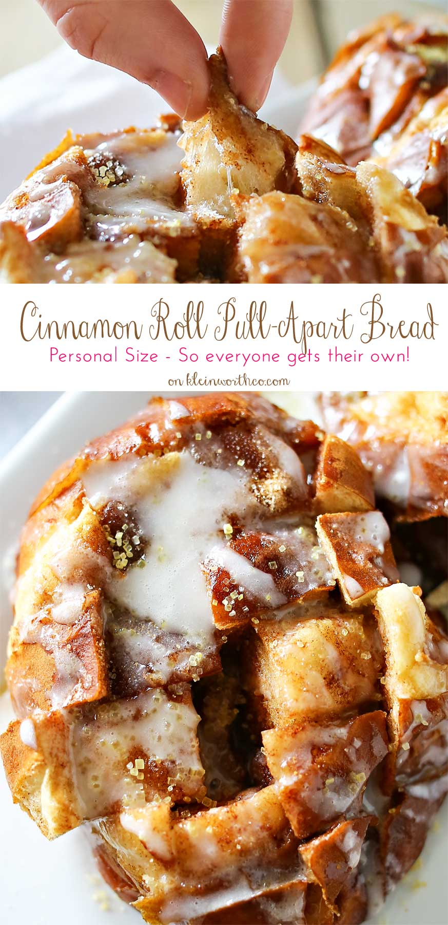 Cinnamon Roll Pull Apart Bread from Kleinworth & Co.
