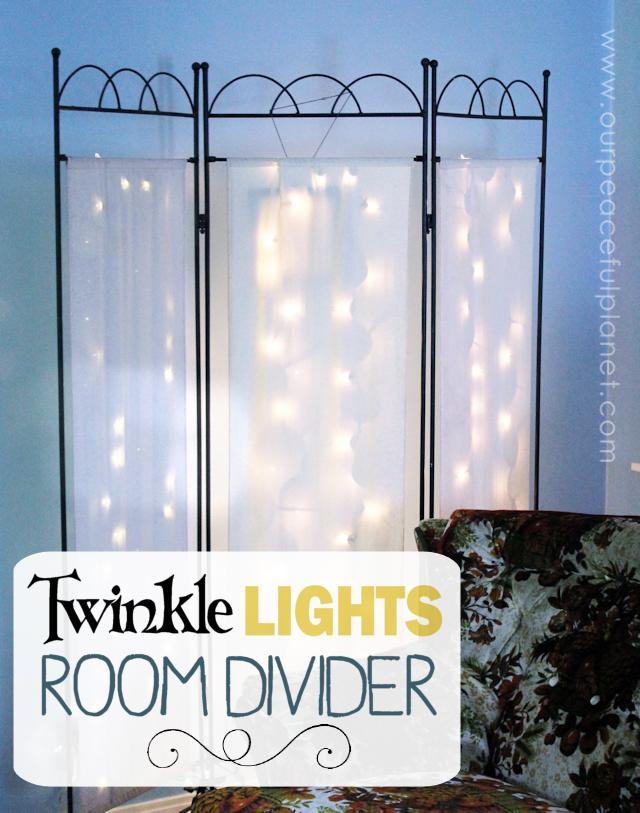 Twinkle Lights Room Divider from Our Peaceful Planet