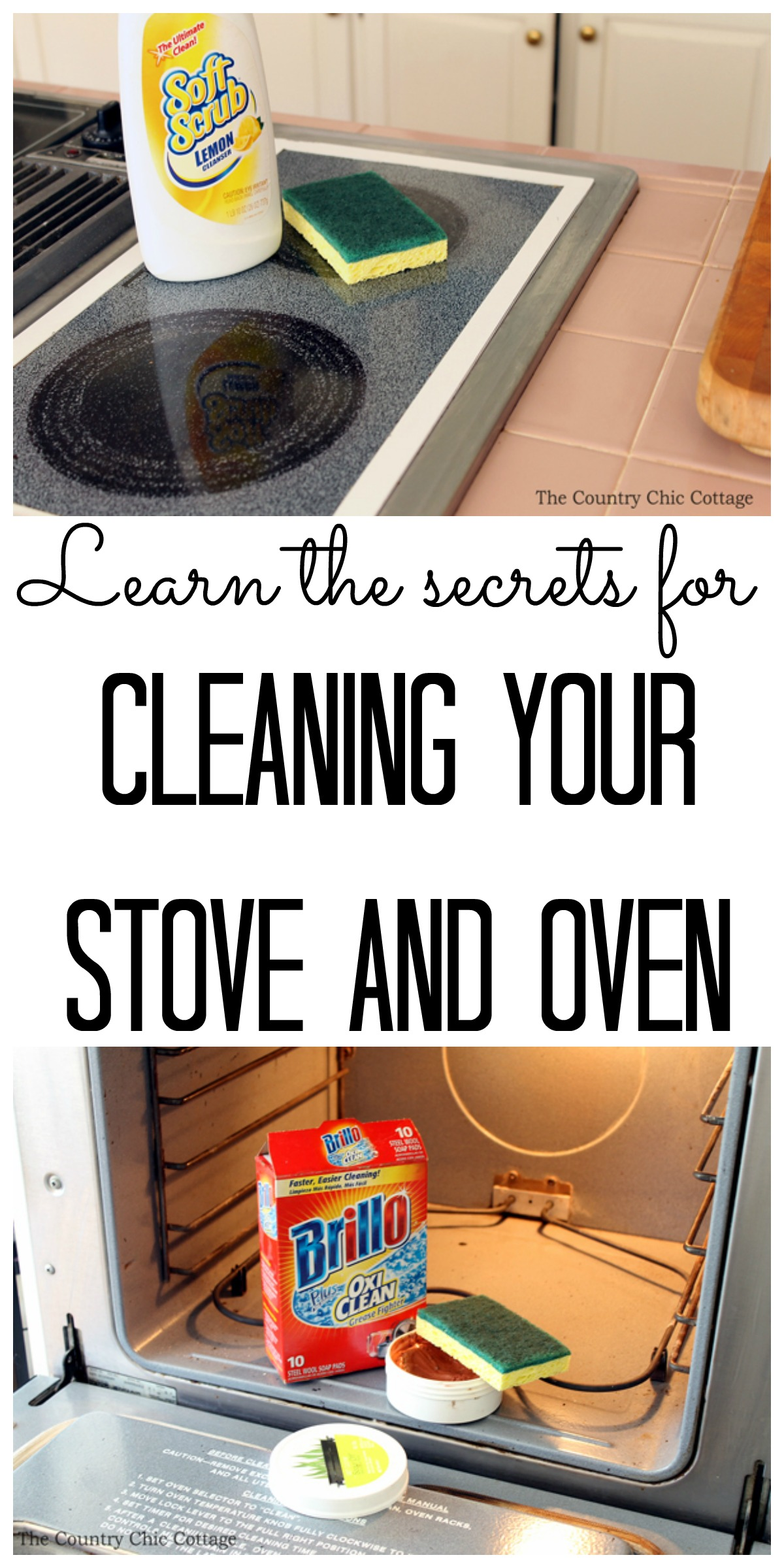 Learn the Secrets for Cleaning Your Stove and Oven from The Country Chic Cottage