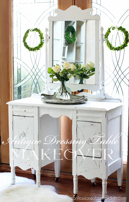 Antique Dressing Table Makeover from Confessions of a Serial Do-It-Yourselfer
