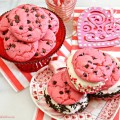 Need an easy treat for Feb. 14? These super easy Strawberry Shake Cookies Ice Cream Sandwiches start with a mix! At littlemisscelebration.com