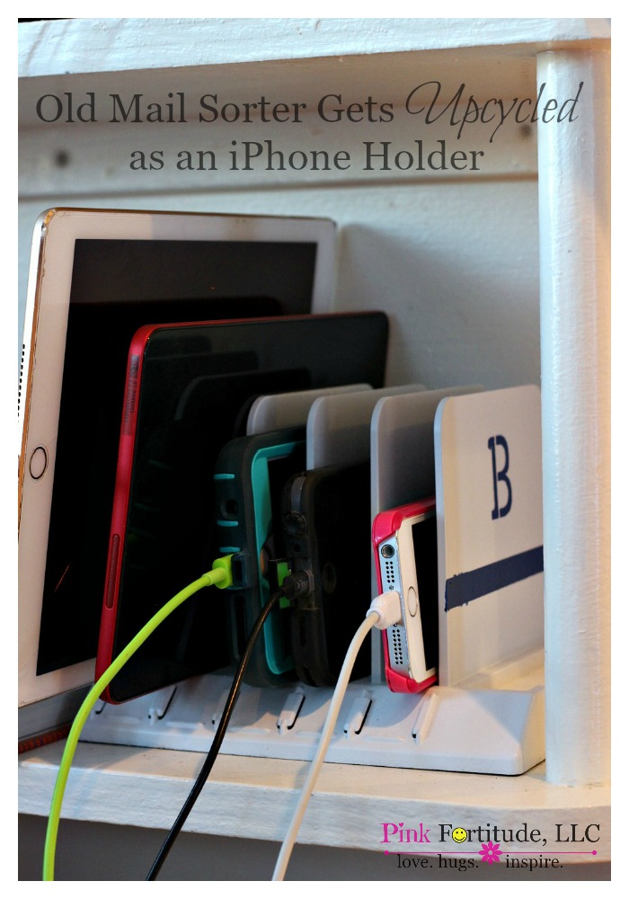 Old Mail Sorter Get Upcycled as an iPhone Holder from The Coconut Head's Survival Guide