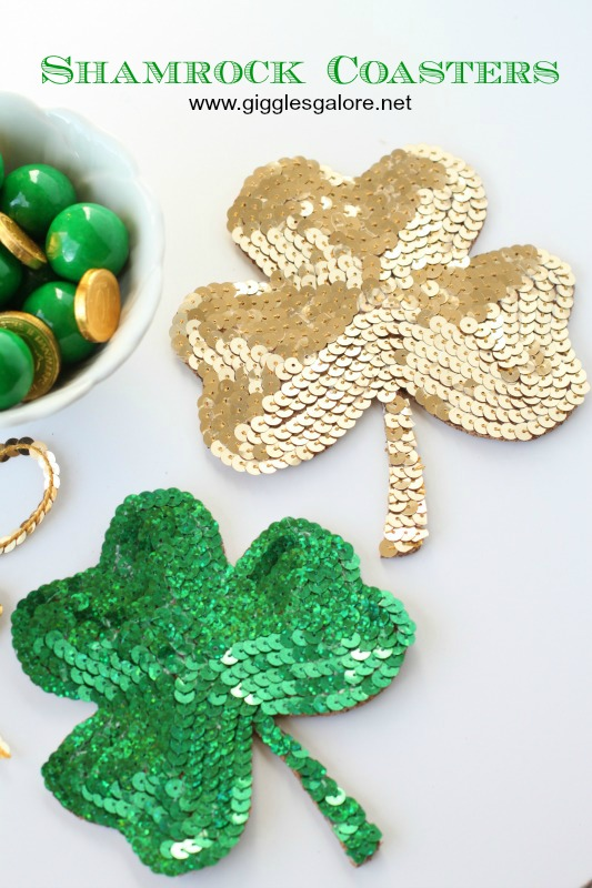 DIY Shamrock Coasters from Giggles Galore