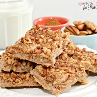 Cinnamon Pecan Squares for PinkWhen