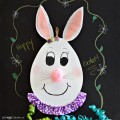 Turn a wooden egg plaque into an adorable, Eggtastic Bunny Face! Easy & perfect for Easter & spring. At littlemisscelebration.com