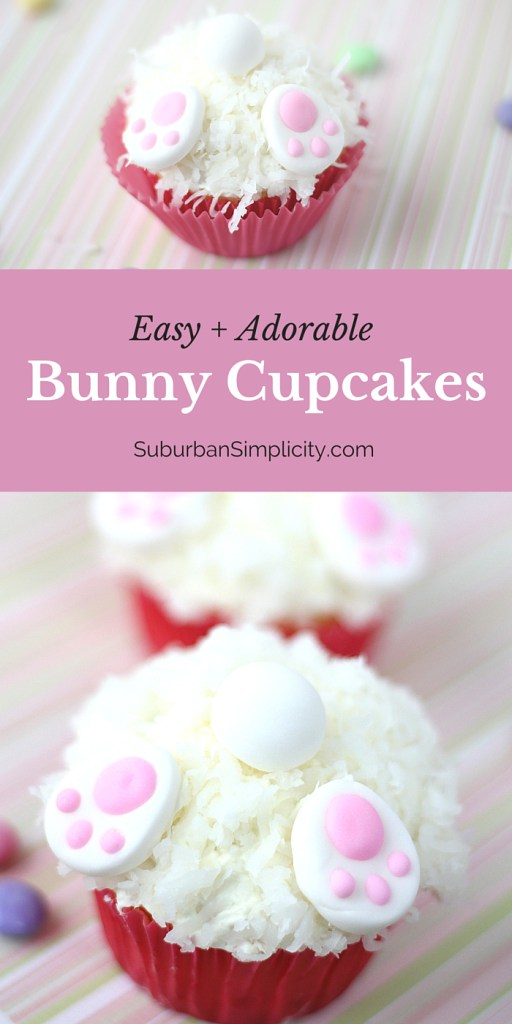 Easy and Adorable Bunny Cupcakes from Suburban Simplicity