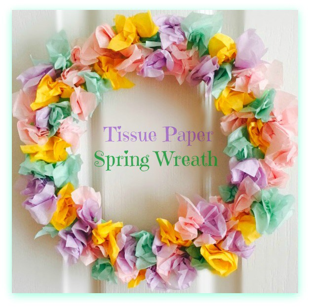 Tissue Paper Spring Wreath from Ilka's Blog