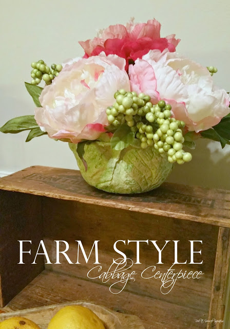 Farm Style Cabbage Centerpiece from Redo It Yourself Inspirations
