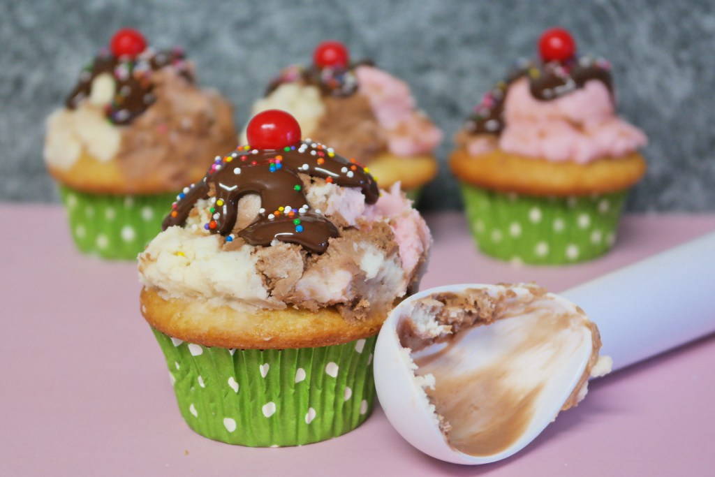Neapolitan Ice Cream Cupcakes from Thinking Outside the Sandbox Family
