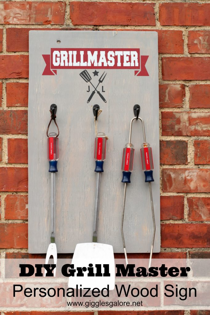 DIY Grill Master Personalized Wood Sign from Giggles Galore