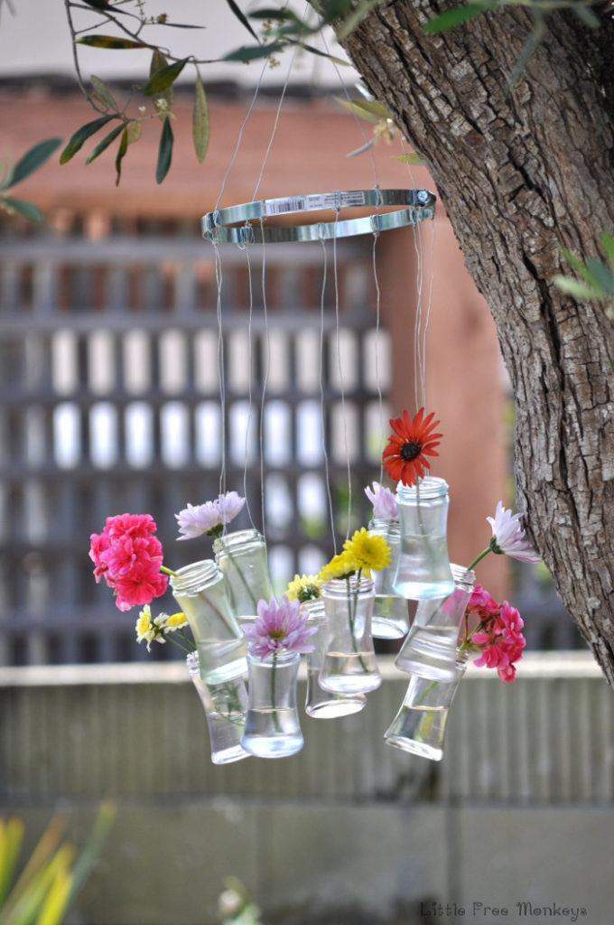 DIY Wind Chime and Decor from Recycled Bottles from Little Free Monkeys