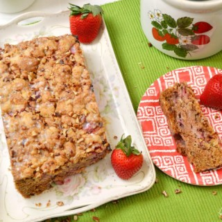 Fresh Strawberry Pecan Bread with Melt-Away Glaze
