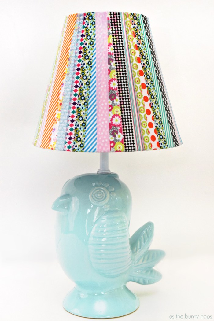 Washi Tape Lampshade from As The Bunny Hops