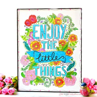 Enjoy the Little Things Framed Coloring Art