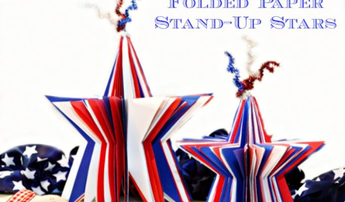 Folded Stand-Up Paper Stars