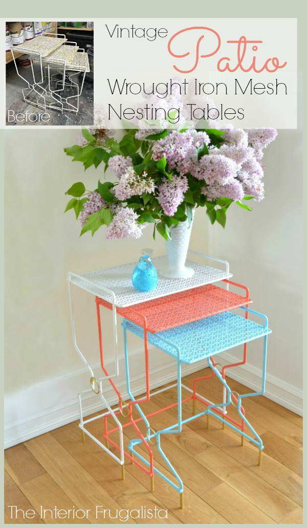 Vintage Patio Nesting Tables from The Interior Frugalista