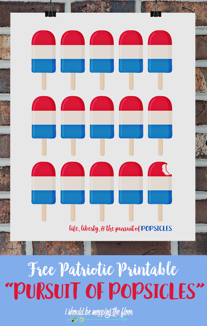 Fourth of July Printable from i should be mopping the floor