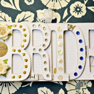 Make the bride-to-be a special book for photos & memories of the big day! Bride Book at littlemisscelebration.com