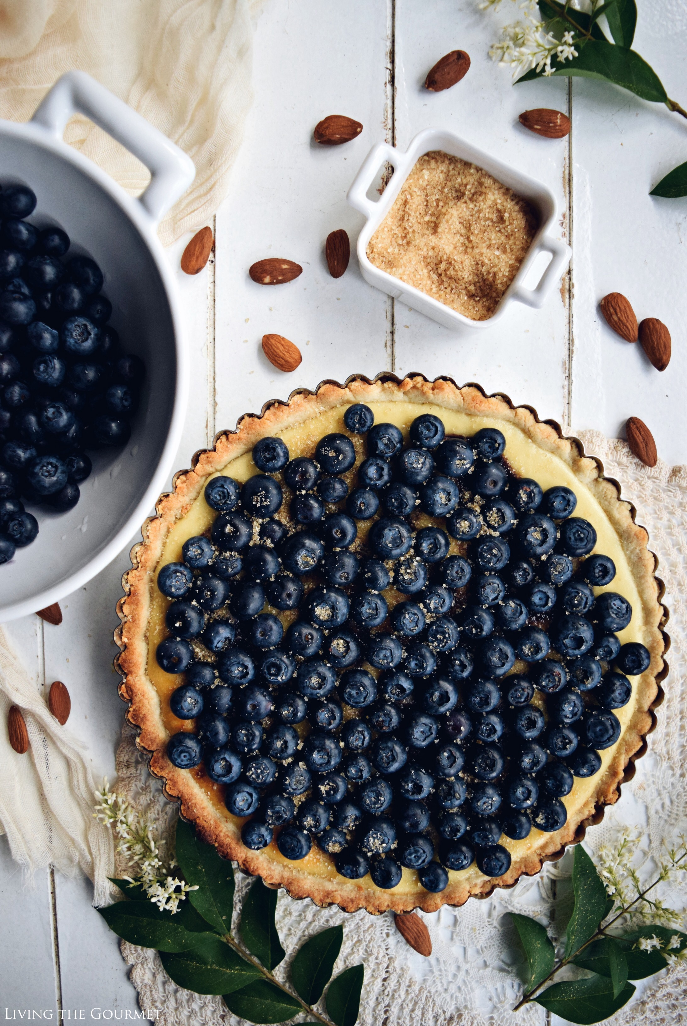 Whipped Ricotta & Blueberry Tart from Living the Gourmet