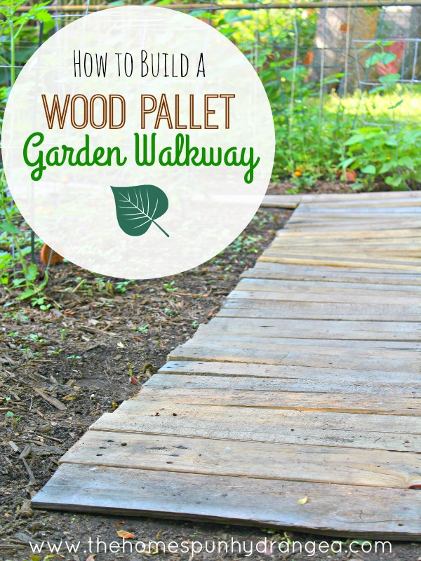 How to Build a Wood Pallet Garden Walkway from The Homespun Hydrangea