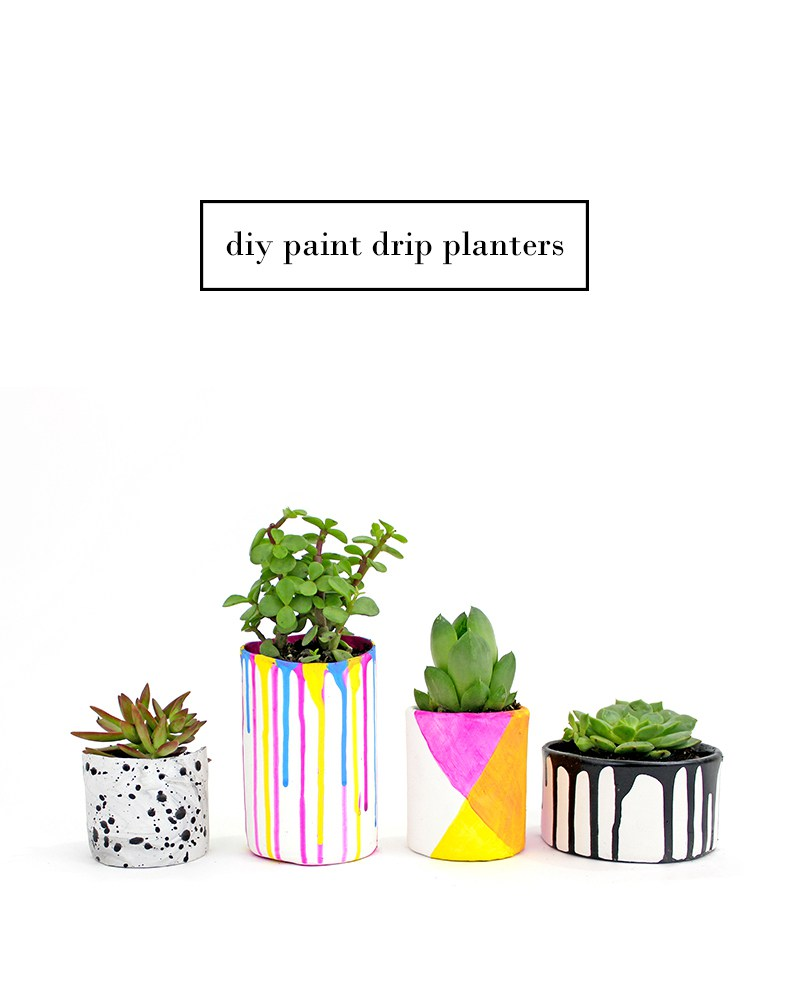 DIY Paint Drip Planters from Lines Across