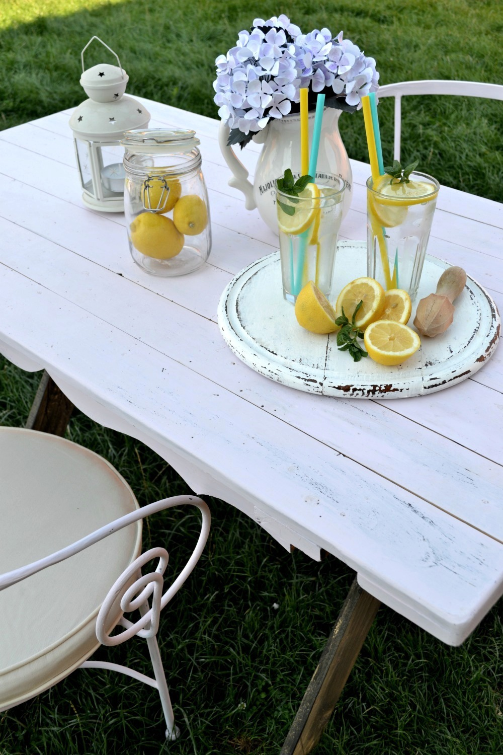 DIY Farmhouse Table for Two from Dreams Factory
