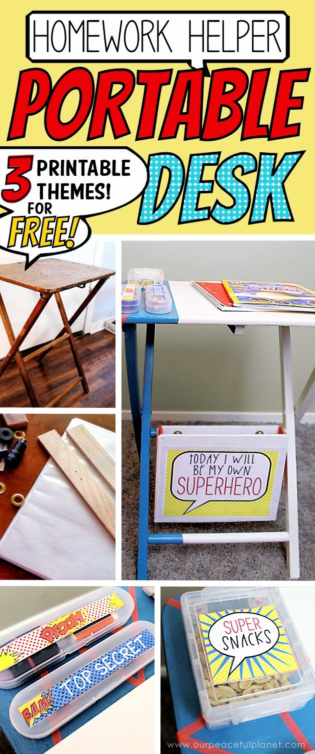 Easy Homework Helper Portable Desk from Our Peaceful Planet