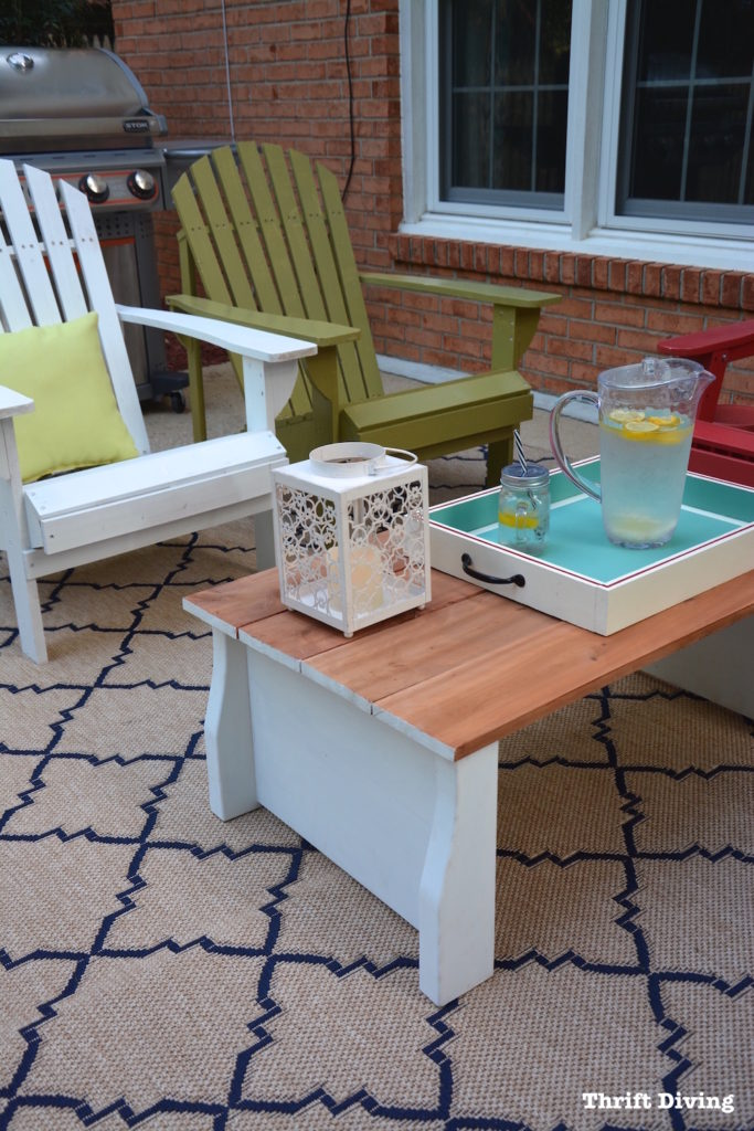 Upcycled Crib to DIY Coffee Table from Thrift Diving