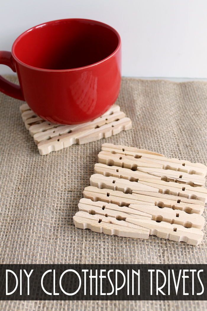 DIY Clothespin Trivets from The Country Chic Cottage
