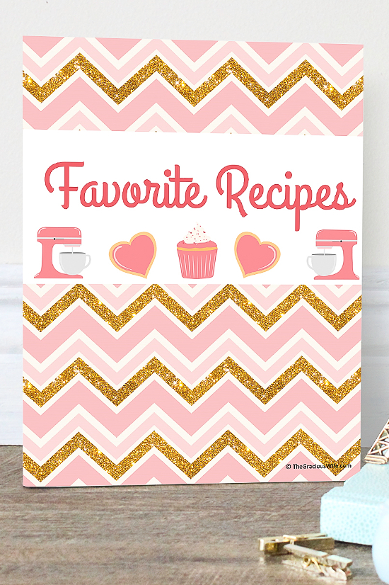Free Recipe Binder Printables from The Gracious Wife