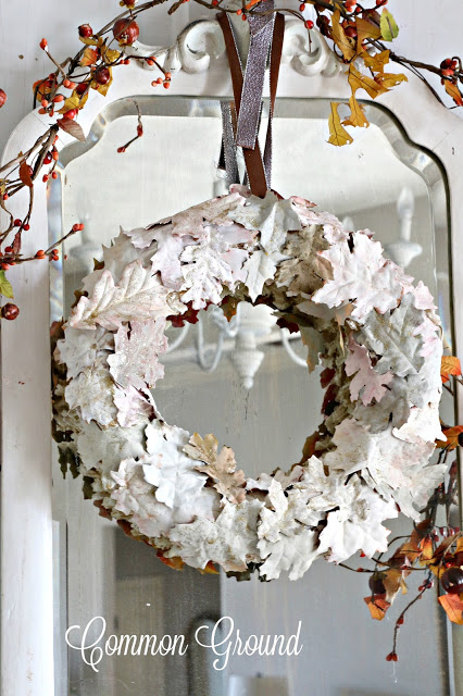 Painted Fall Leaf Wreath from Common Ground