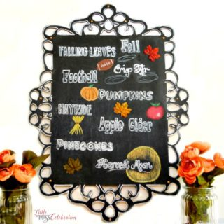 Autumn Favorites Chalkboard