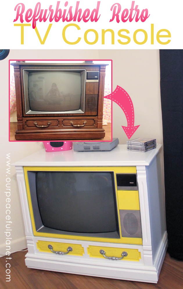 How To Turn a Working Console TV into a Piece of Art from Our Peaceful Planet
