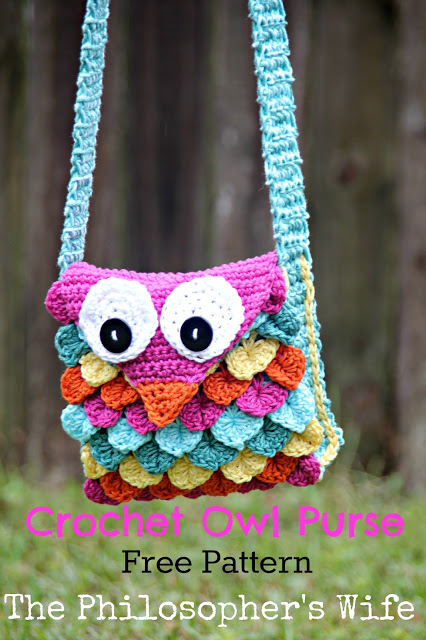 Crochet Owl Purse Free Pattern from The Philosopher's Wife