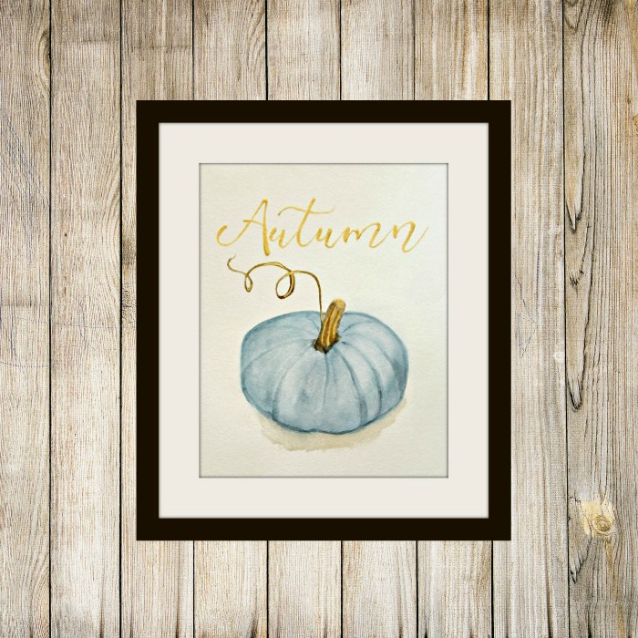Free Blue Pumpkin Printable from The Red Painted Cottage