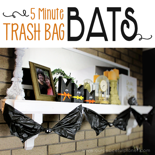 5 Minutes Trash Bag Bats from Our Peaceful Planet