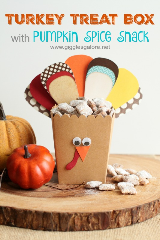 Turkey Treat Box with Pumpkin Spice Snack from Giggle Galore